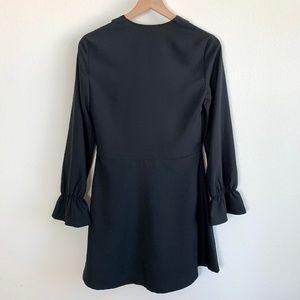 Gianni Bini Tops - GB Black V-Neck Elegant Long Sleeve Blouse